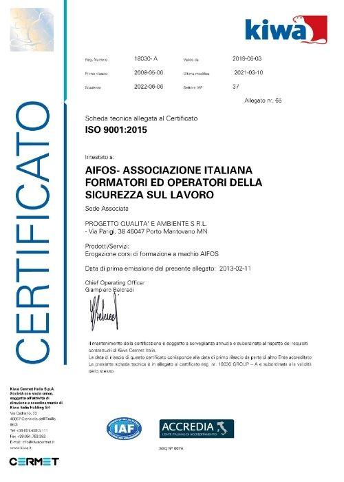Certificato IFOS 2021
